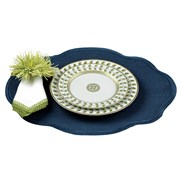 Oval Scalloped Braided Placemats