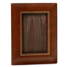 "Double Line Leather Frame 4"" x 6"""