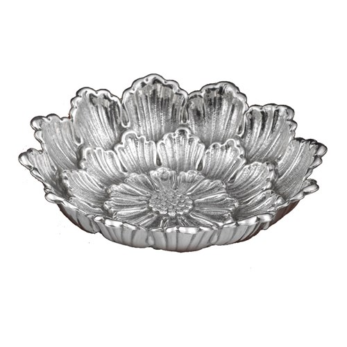 Buccellati Dahlia Sterling Silver Flower Dish, Medium