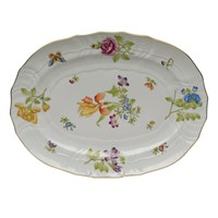 Herend Antique Iris Oval Platter, Medium
