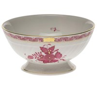 Herend Chinese Bouquet Raspberry Footed Bowl