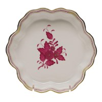 Herend Chinese Bouquet Raspberry Fruit Bowl, Large