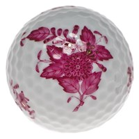 Herend Chinese Bouquet Raspberry Golf Ball