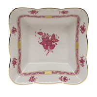 Herend Chinese Bouquet Raspberry Square Dish, Medium
