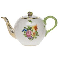 Herend Printemps Tea Pot with Butterfly Finial