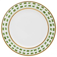 Royal Limoges La Bocca Green Round Cake Platter