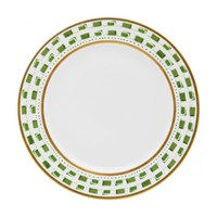Royal Limoges La Bocca Green Dessert Plate