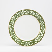 Royal Limoges La Bocca Green Leaf Dessert Plate