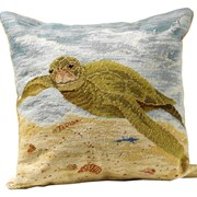 Shore Life Needlepoint Pillows