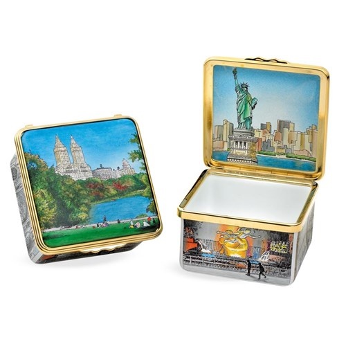 Halcyon Days New York in Six Scenes Enamel Box