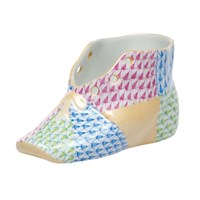 Herend Baby Shoe, Patchwork