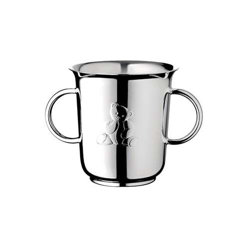 Christofle Charlie Bear Silverplated Double-Handled Baby Cup
