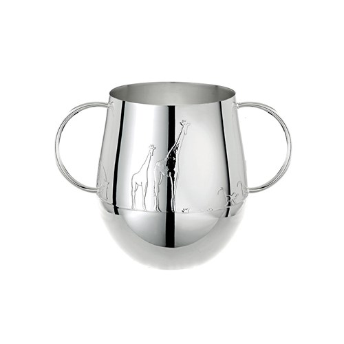 Christofle Savane Silverplated Double-Handled Baby Cup