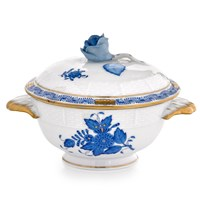 Herend Chinese Bouquet Blue Bouillon Cup