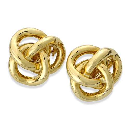 Classic Knot 18 Karat Gold Earrings