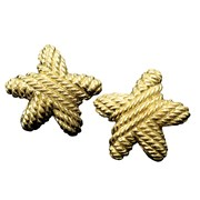 18k Twisted Rope Starfish Earrings