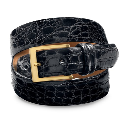 Crocodile Belt Black Size 32