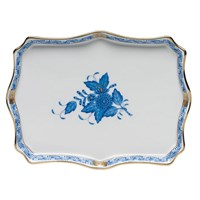 Herend Chinese Bouquet Blue Tray, Small