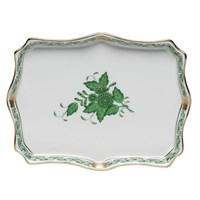 Herend Chinese Bouquet Green Tray, Small