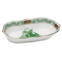 Herend Chinese Bouquet Green Narrow Pin Dish