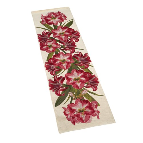 Amaryllis on Cream Table Runner