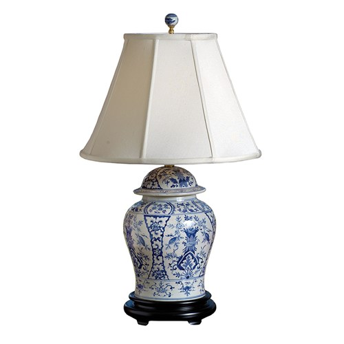 English Style Blue and White Porcelain Lamp
