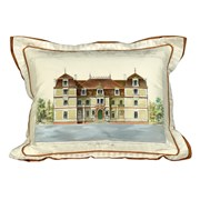 Handpainted Parisian House Silk Pillows