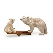 Austrian Bronze Polar Bears on Seesaw