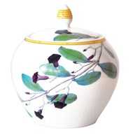Bernardaud Jardin Indien Covered Sugar Bowl