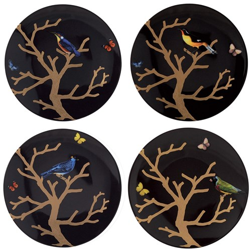 Bernardaud Aux Oiseaux Assorted Plates, Set of 4