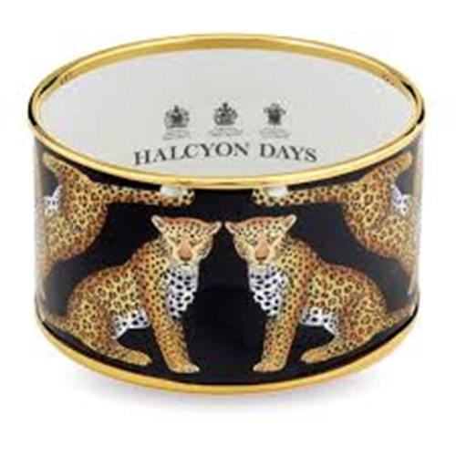 Halcyon Days Magnificent Wildlife Leopard Bangles