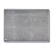 Silver Leaf Glass Mats & Coasters