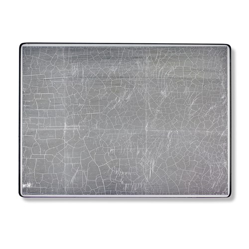 Silver Leaf Large Glass Placemat