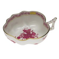 Herend Chinese Bouquet Raspberry Deep Leaf Dish Large