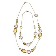 18k Yellow Gold Medium Multicolor Citrine Necklace