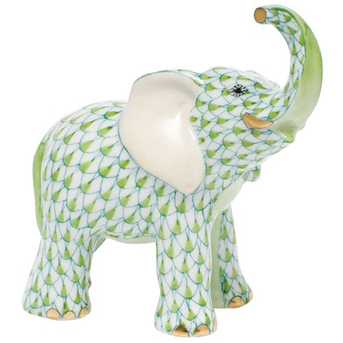Herend Young Elephant, Key Lime