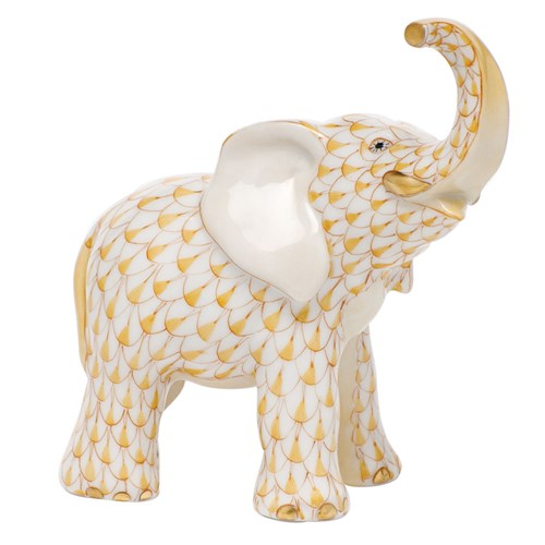 Herend Young Elephant, Butterscotch