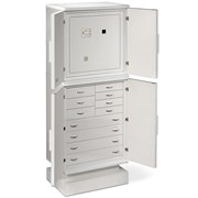 Armored Jewelry Safe, White