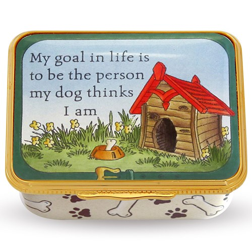 Halcyon Days Goal in Life Enamel Box