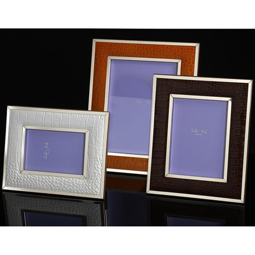 Faux Crocodile Sterling Silver Frames