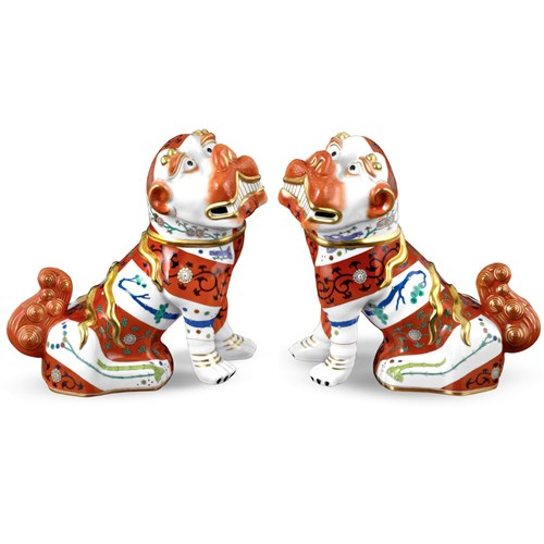 Herend Red Foo Dogs