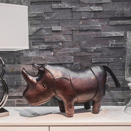 Wondrous Rhinoceros Leather Footstool Large Ocoug Best Dining Table And Chair Ideas Images Ocougorg