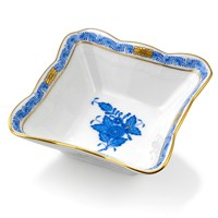 Herend Chinese Bouquet Blue Salad Dish