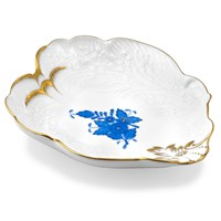 Herend Chinese Bouquet Blue Baroque Dish / Tray