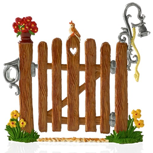 Pewter Summer Garden Wooden Gate