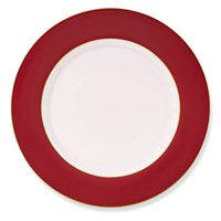 Pickard Color Sheen Red & Gold Charger / Presentation Plate