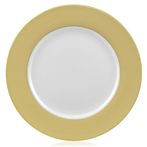 Pickard Ultra White Buttercup Charger with Gold Trim