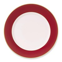 Pickard Color Sheen Red & Gold Dinner Plate