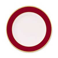 Pickard Color Sheen Red & Gold Bread & Butter Plate