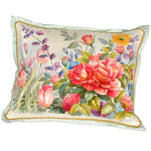 Garden with Roses Pillow